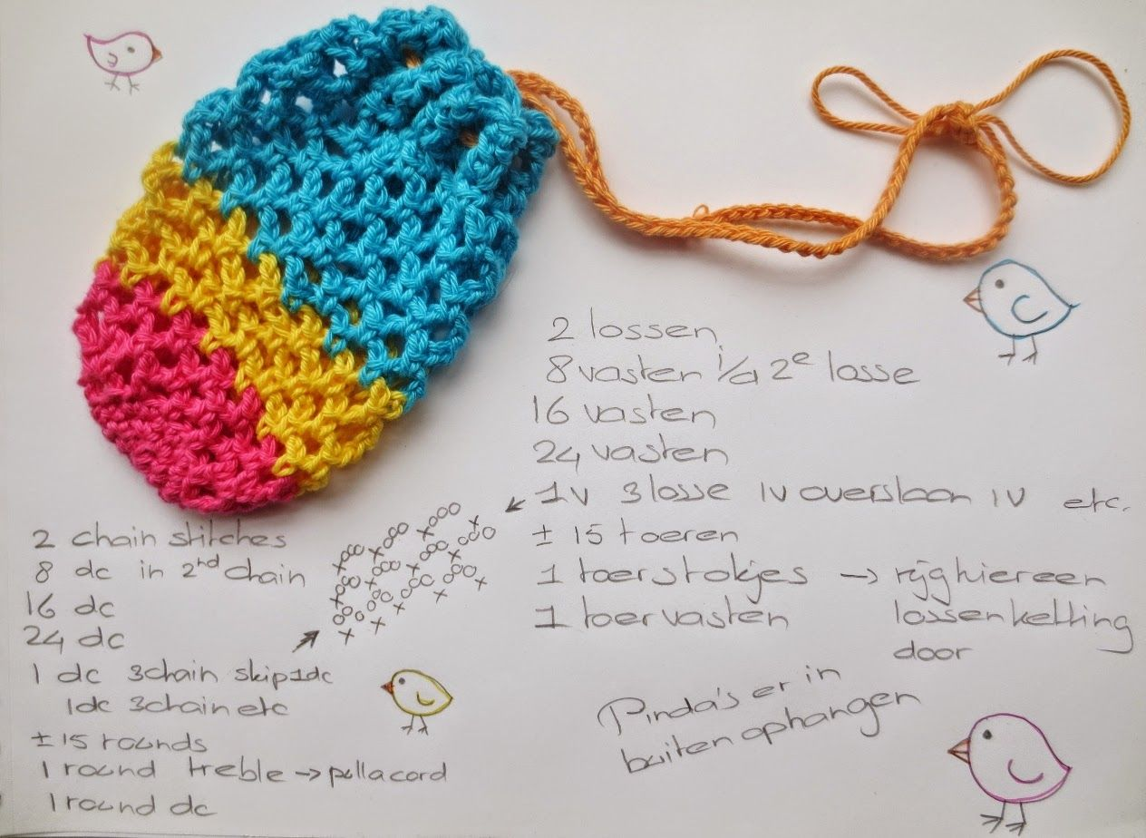 E Strea Chikitu: Crochet colorful birdfeeders 3