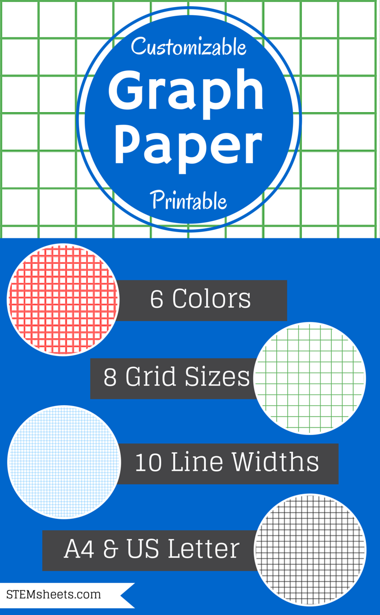 Math Grid Paper Template Simple Graph Paper  Customizable And Printable  Math Journal  Pinterest .