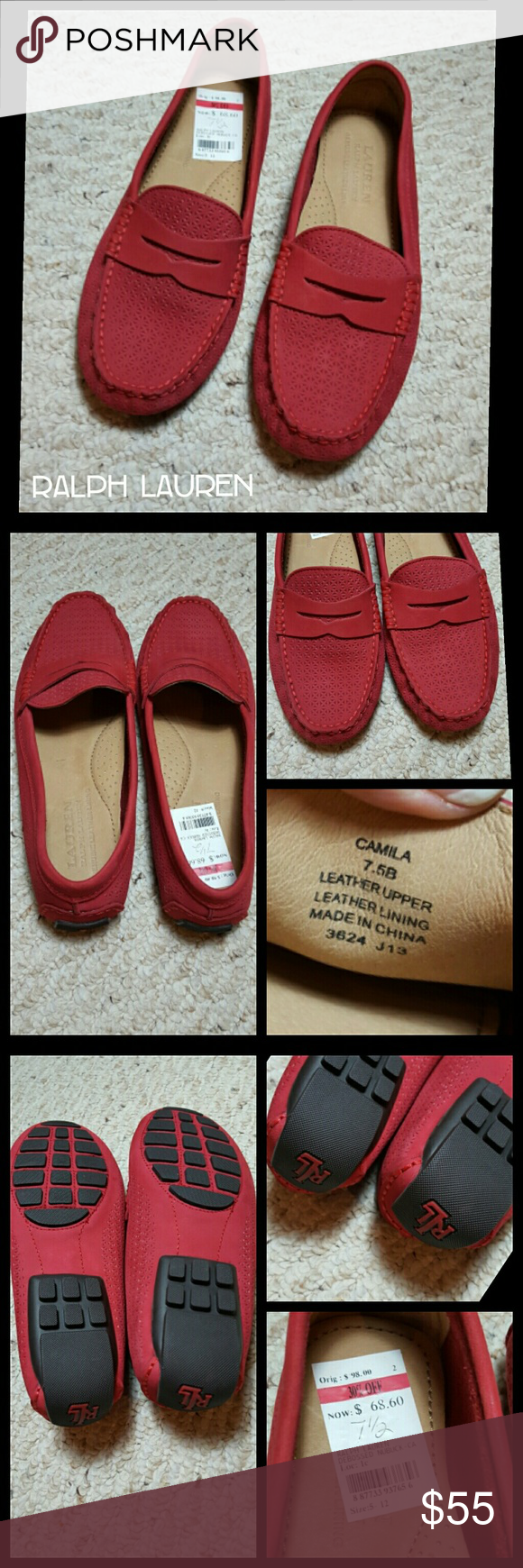 New Ralph Lauren Driver/Loafer New with tags  LAUREN  Camila, Debossed Nubuck True to size 7.5 No trades Please Ralph Lauren Shoes Flats & Loafers