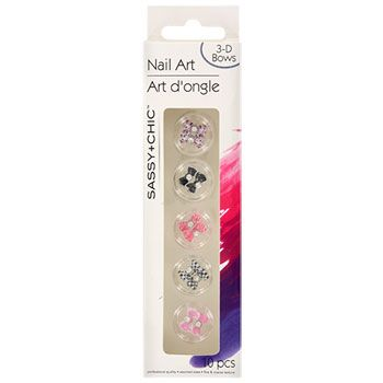 Bulk Sassychic Plastic 3d Bows Nail Art 10 Ct Packs At Dollartree