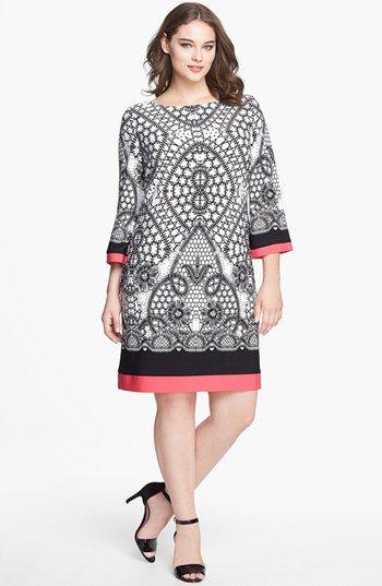 eliza j print jersey shift dress (plus size) available at