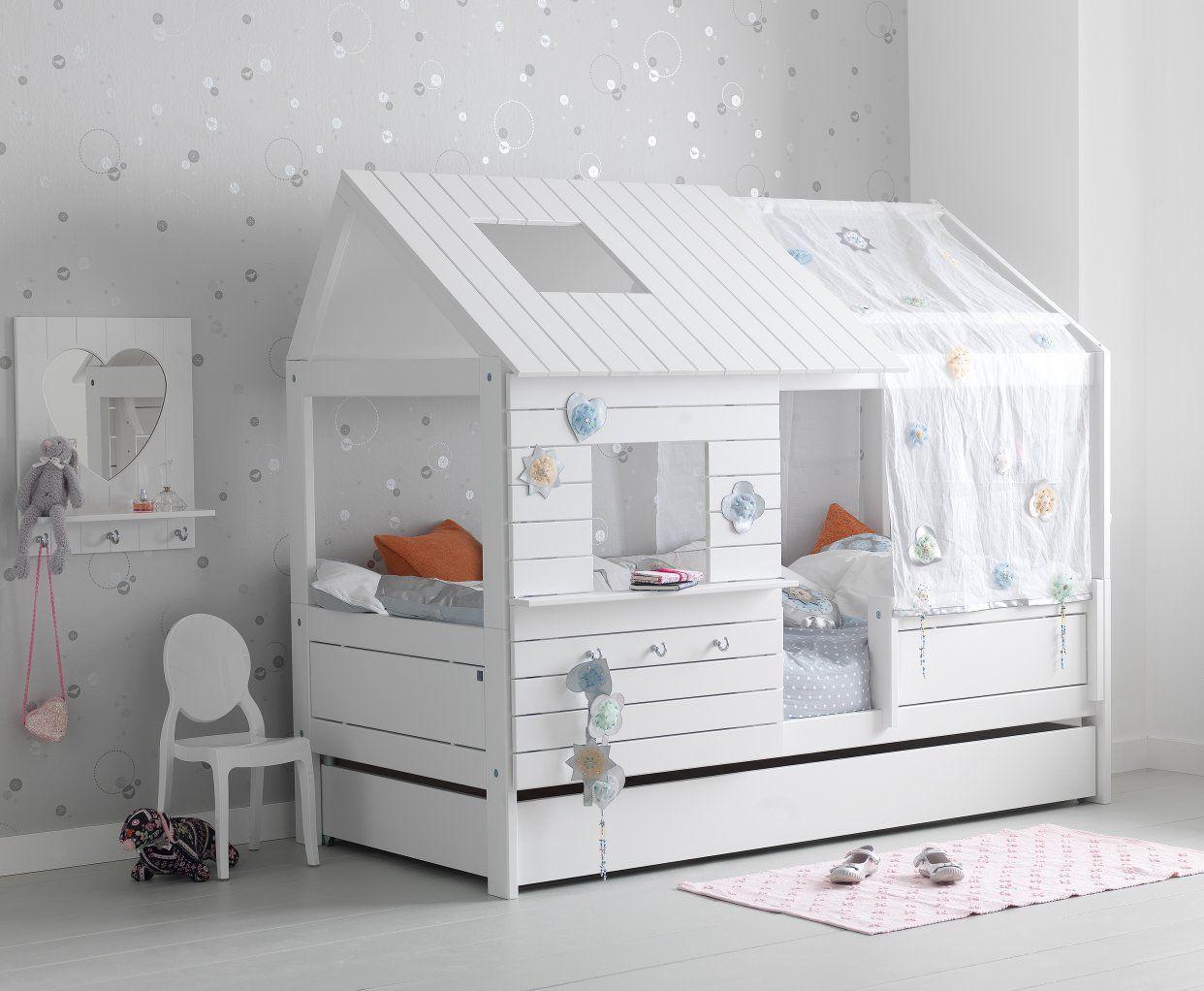 Hut Bed Solid Wood White For Children In S A Camerette Cameretta Dei Bambini Letti Di Design