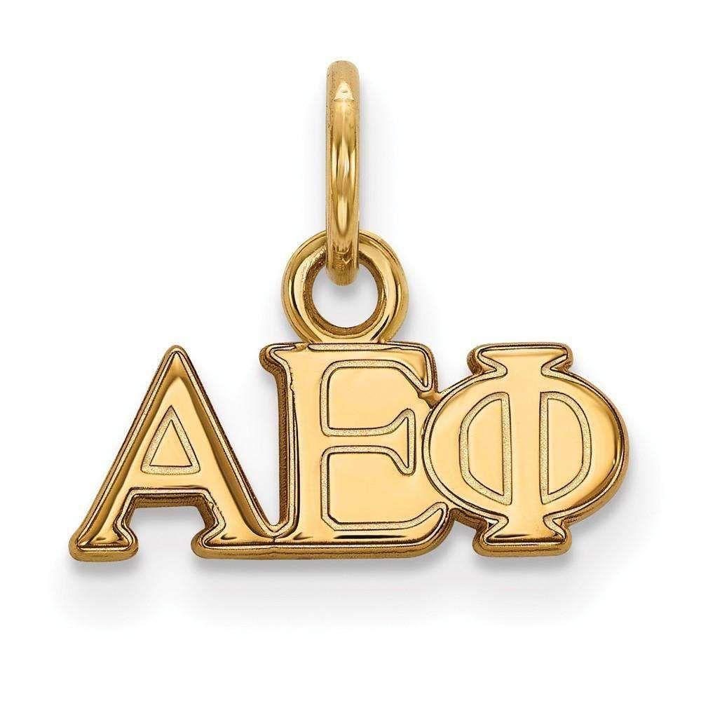 Sterling Silver w/GP LogoArt Alpha Epsilon Phi XS Pendant