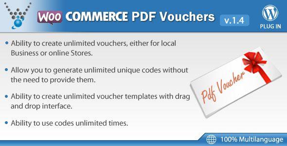Create A Voucher Endearing Woocommerce Pdf Vouchers  WordPress Plugin  WordPress  Pinterest .