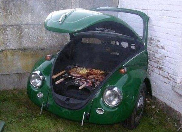 vw beetle BBQ grill