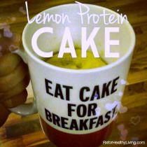 Lemon Protein Mug Cake