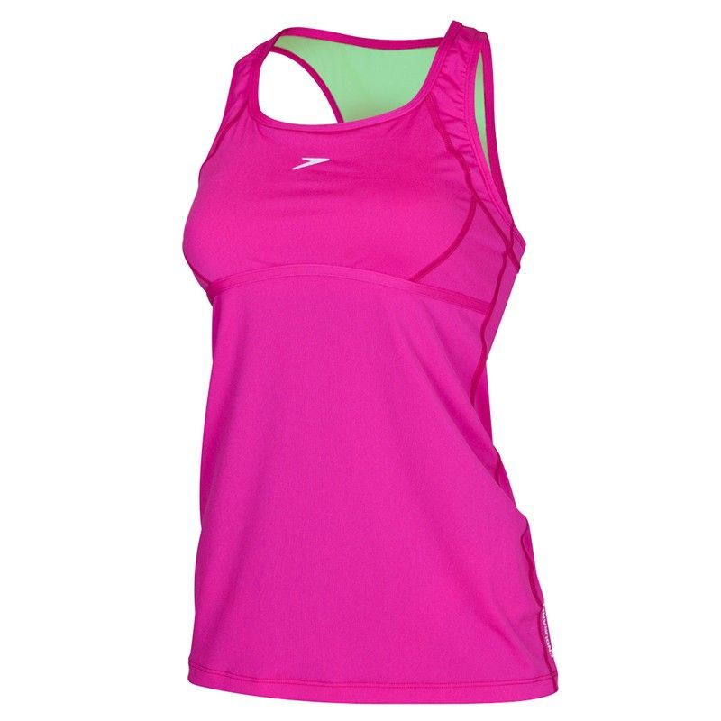 36c9137e8c41 Cranberry Coloured Speedo Cross Trainer Power Tank | Latest Look For ...