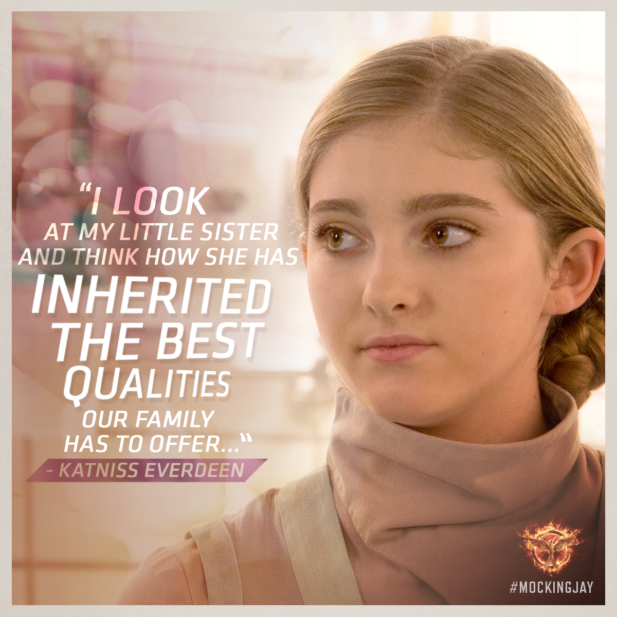 """""""...My mother's healing hands, my father's level head and my fight."""" #Mockingjay"""