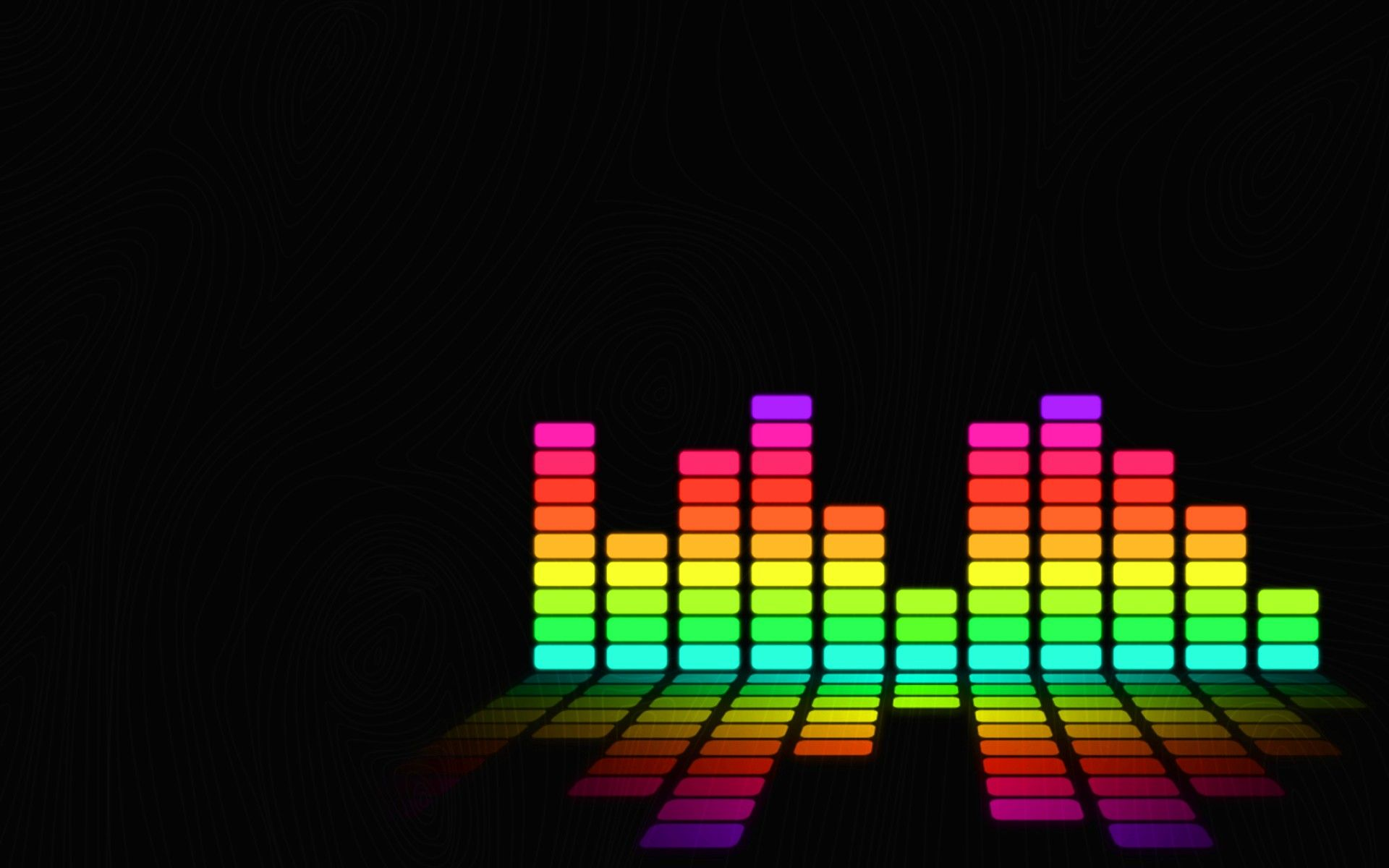 Colorful Abstract DJ Audio Spectrum Music Wallpaper