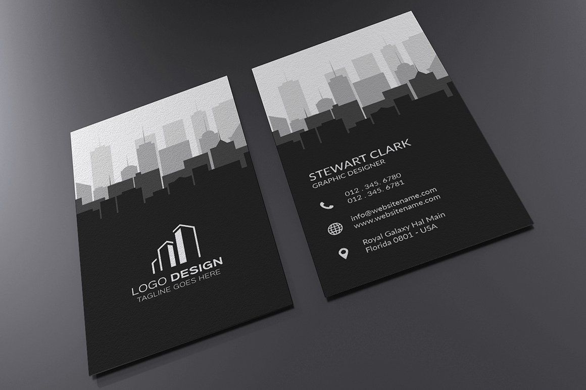 Real Estate Business Card Template Business Cards Minimal Business Cards Creative Real Estate Business Cards