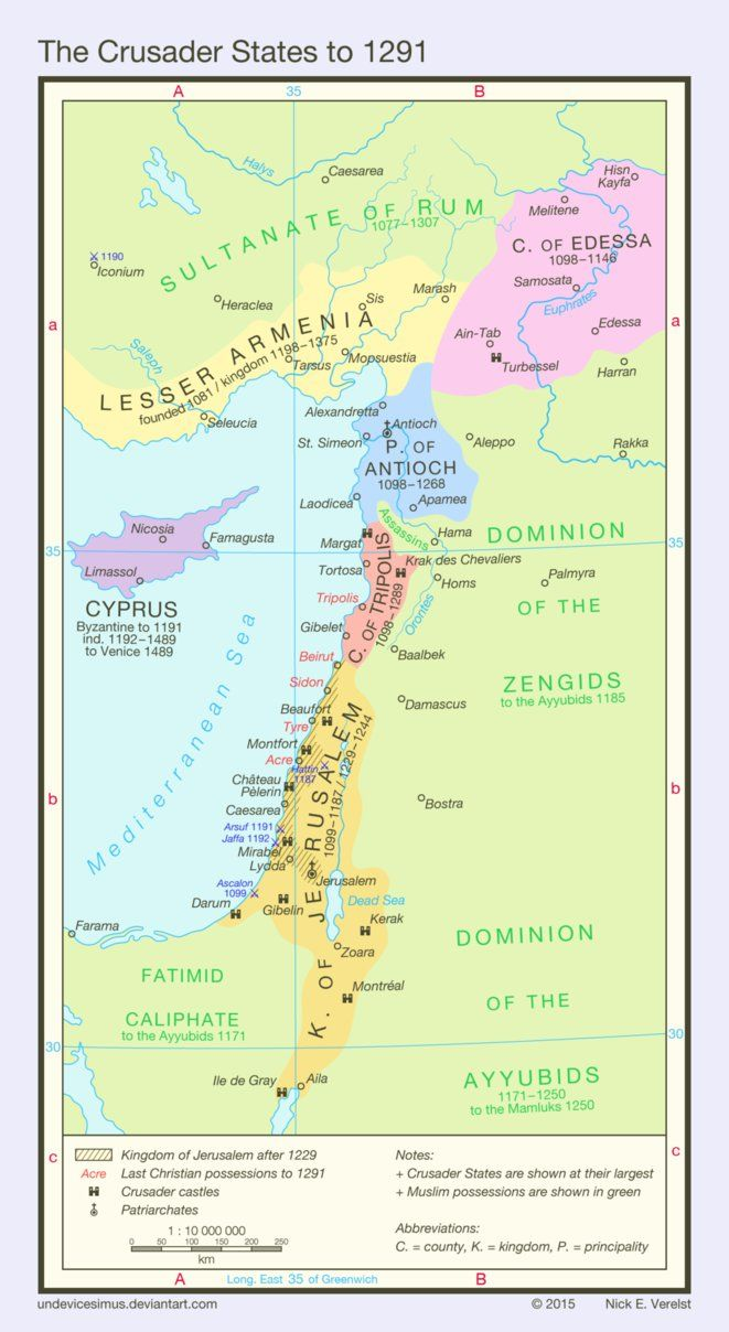 Les Etats Croises En 1291 Par Undevicesimus Terre Sainte