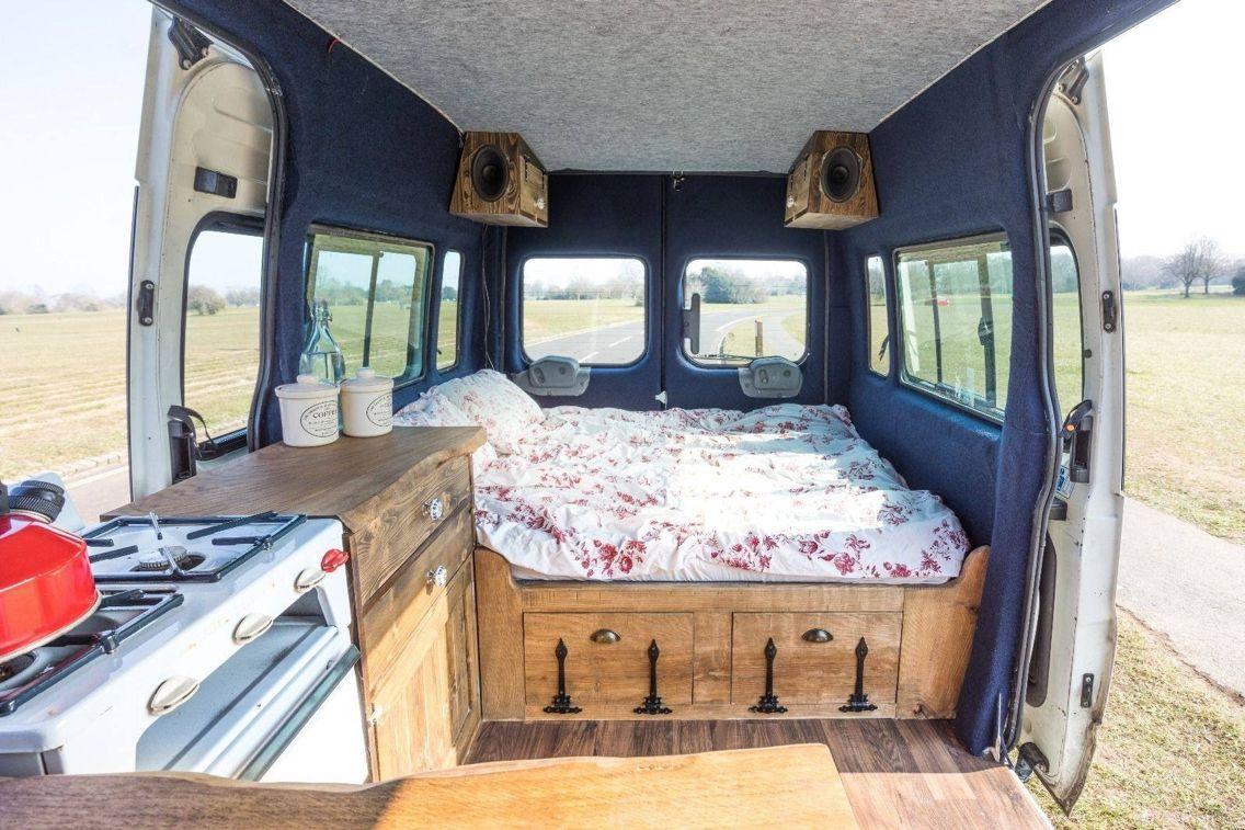 Pin By Sadie Porter On Van Living Camper Living Campervan Interior Cozy Camping Van Interior