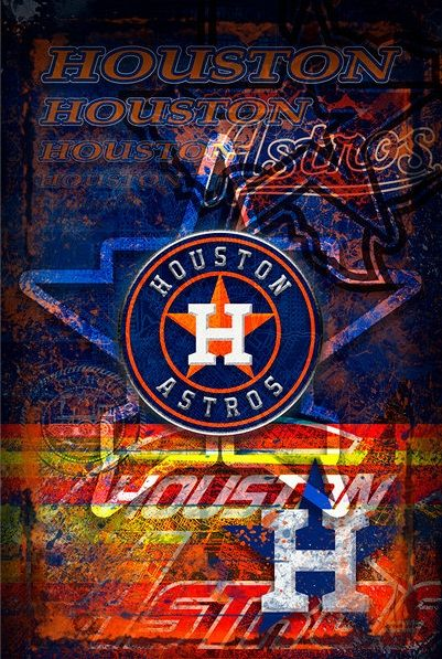 Houston Astros Astros de houston, Houston, Poster