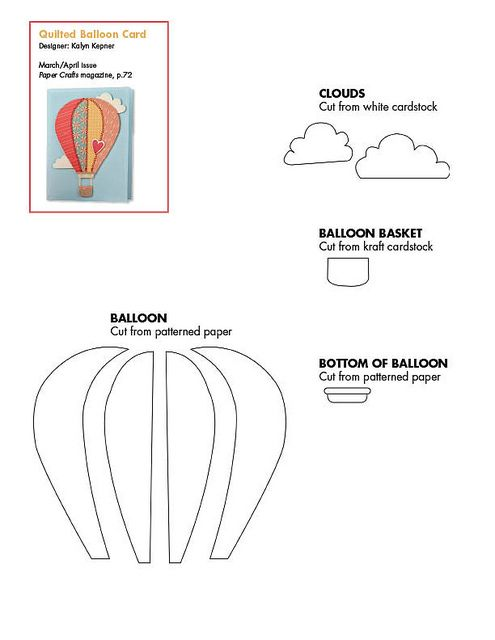 March April 2011 Patterns March April 2011 Paper Crafts Balloon Template Hot Air Balloon Party Balloon Crafts