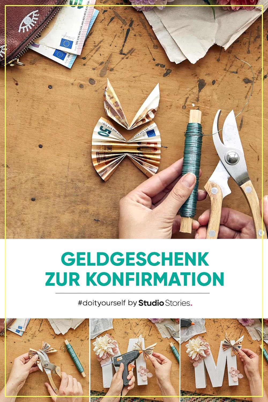 Einfach Geld falten. DIY Geldgeschenk Anleitung zur Konfirmation.