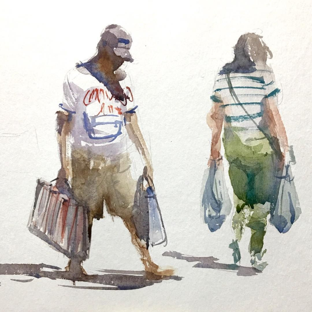How To Paint 8 Different People In Watercolor Painting And