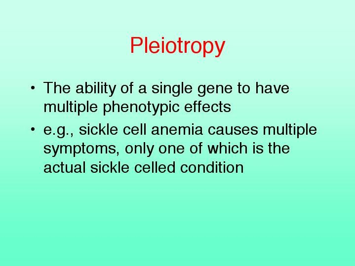 Pleiotropy U2013 The Action Of An Allele (gene) Affects Many Parts Of    Parts  Parts Of A Resume