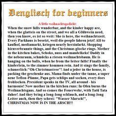 Kurze lustige englische weihnachtsgedichte