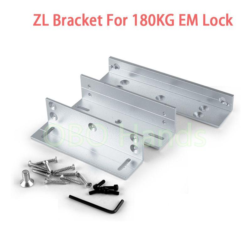 Easy Using Zl Bracket For 180kg Holding Force Electric Magnetic Lock L Z Bracket For Inward Door Locks Access Control Access Control System Magnetic Door Lock