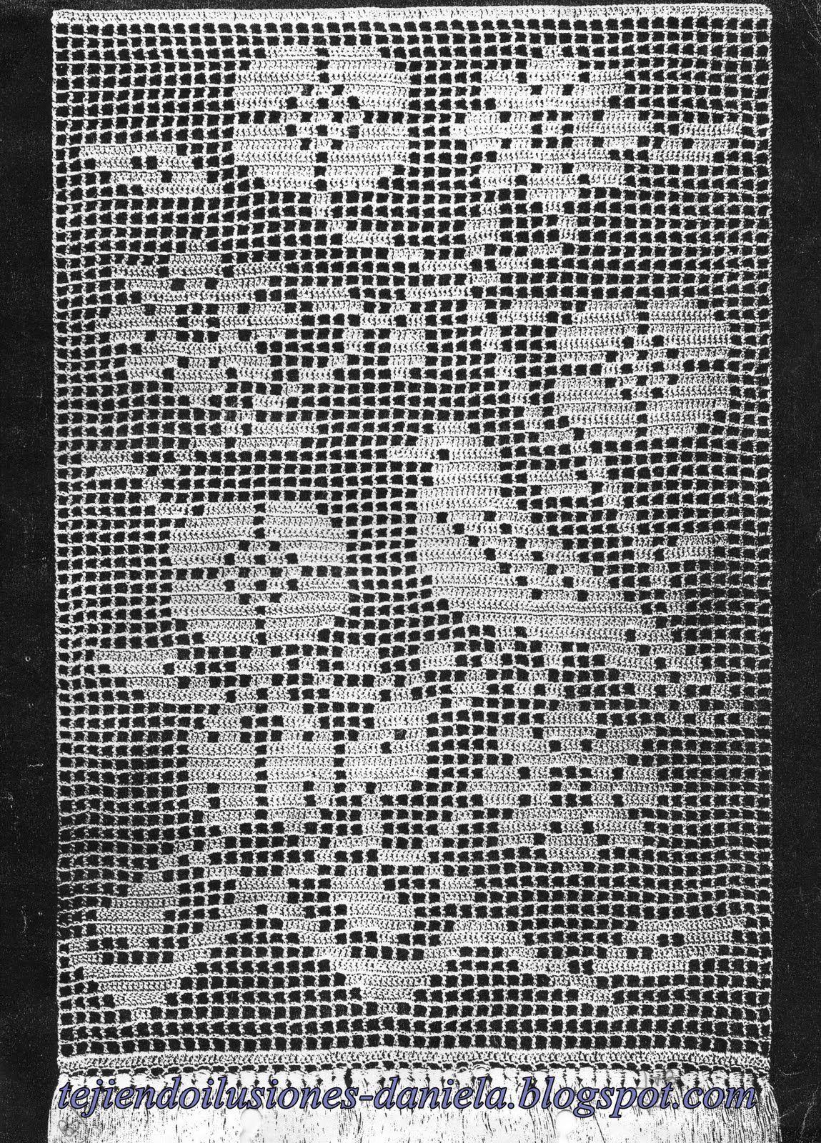 Tejido a crochet visillo cortina com portal pelautscom - Tejidos de cortinas ...