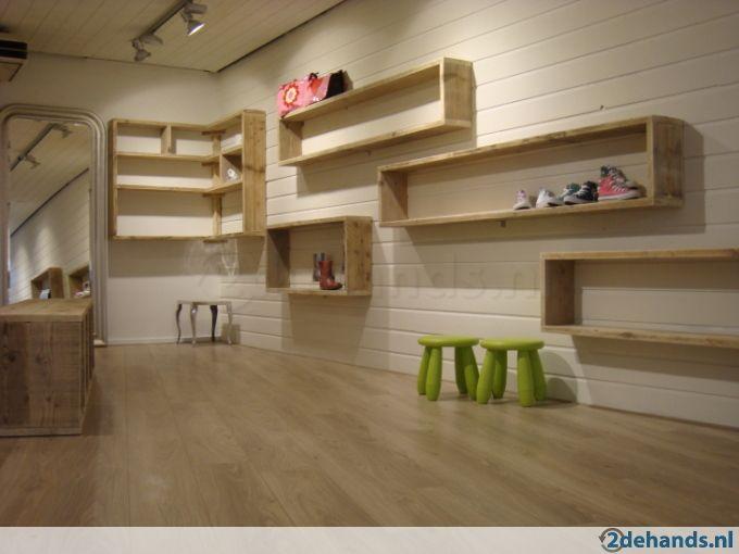 Winkelinrichting interieur steigerhout for Interieur hout
