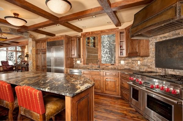Leathered Granite Countertops Review Rustic Kitchen Design Wood Flooring  Kitchen Island With Seating