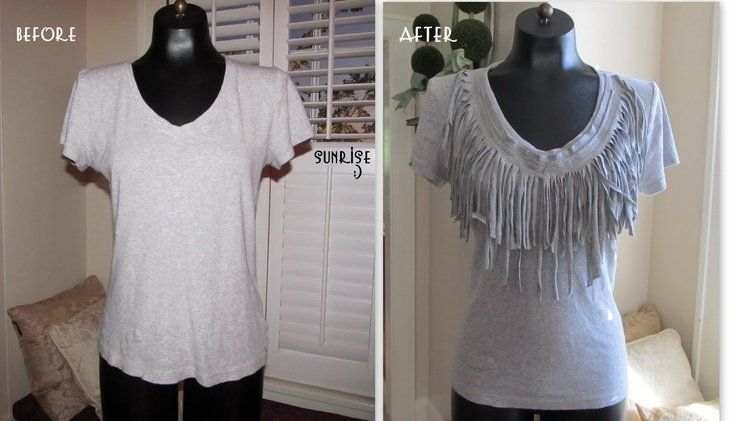 Wobisobi: Fringe Tee DIY lots of great ideas on her blog  | followpics.co