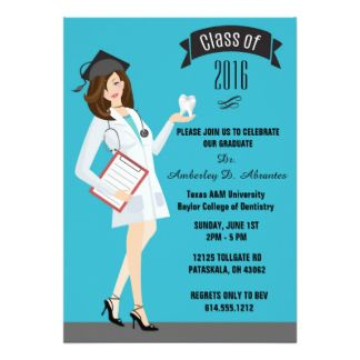 Dental Assistant Graduation Announcements And Invitations At