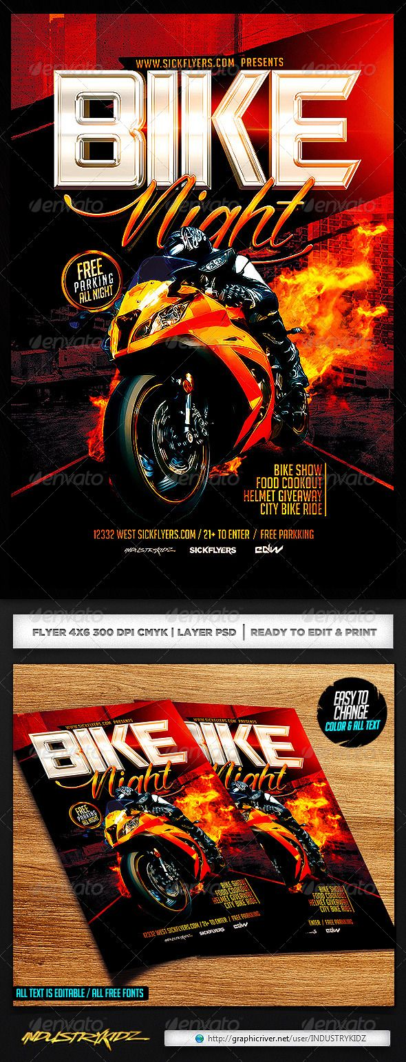 bike night flyer template night flyers and photoshop bike night flyer template