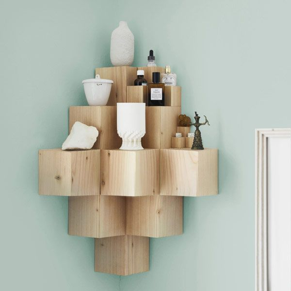 Wood Shelving Unit Made Of Douglas Fir Adjusts To Your Home S Environment Literally