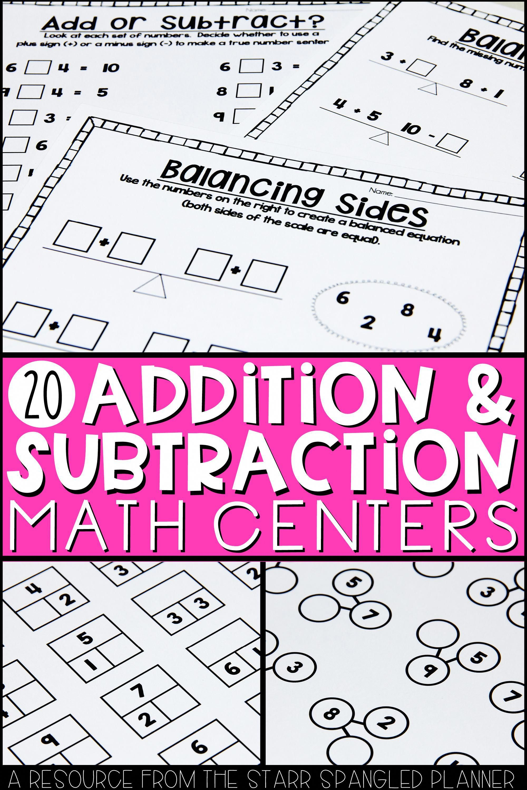 So Many Fun Addition And Subtraction Ideas For Your Kids