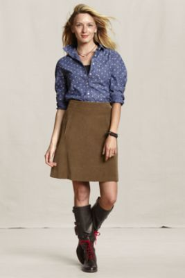521806e1ddf Women s Corduroy Pocket Skirt from Lands End Canvas. Love this skirt ...