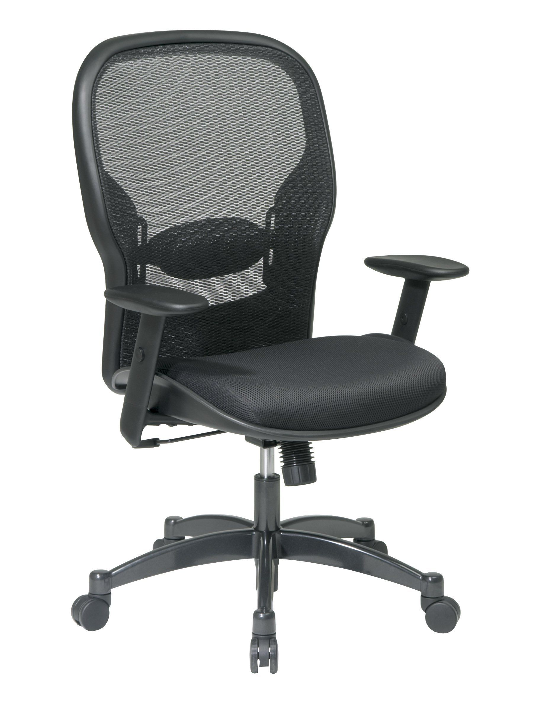 E Seating Breathable Mesh Black Back And Padded Seat 2 To 1