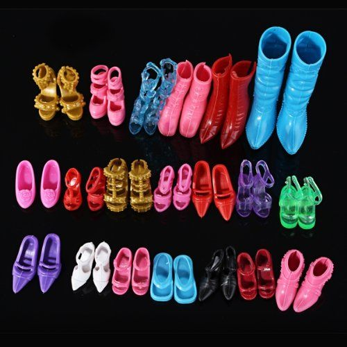 10 Pairs Party Daily Wear Dress Outfits Clothes Shoes For Barbie Doll Gift CJ