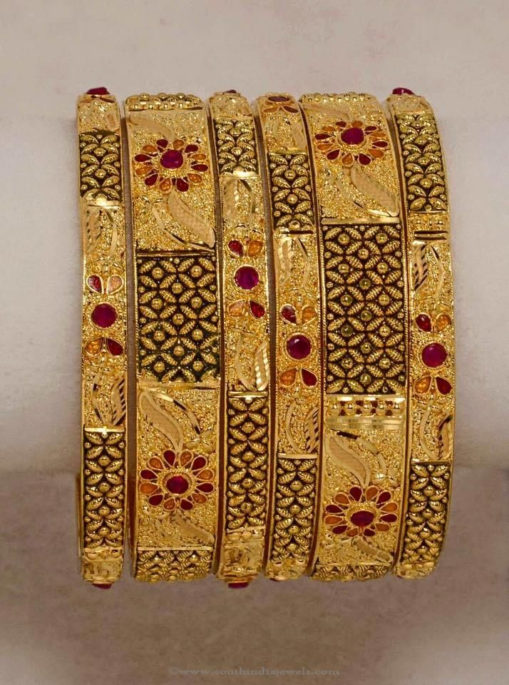 Gold Plated Bangle From Amore | Gold plated bangles, Bangle and Gold