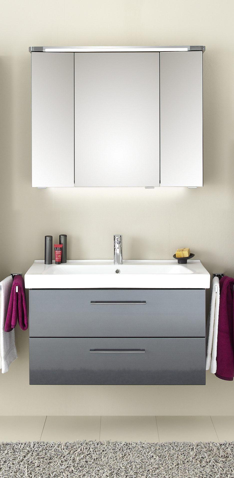 Badezimmerset Aquarell Prag Waschbeckenunterschrank Spiegelschrank Und Badezimmer