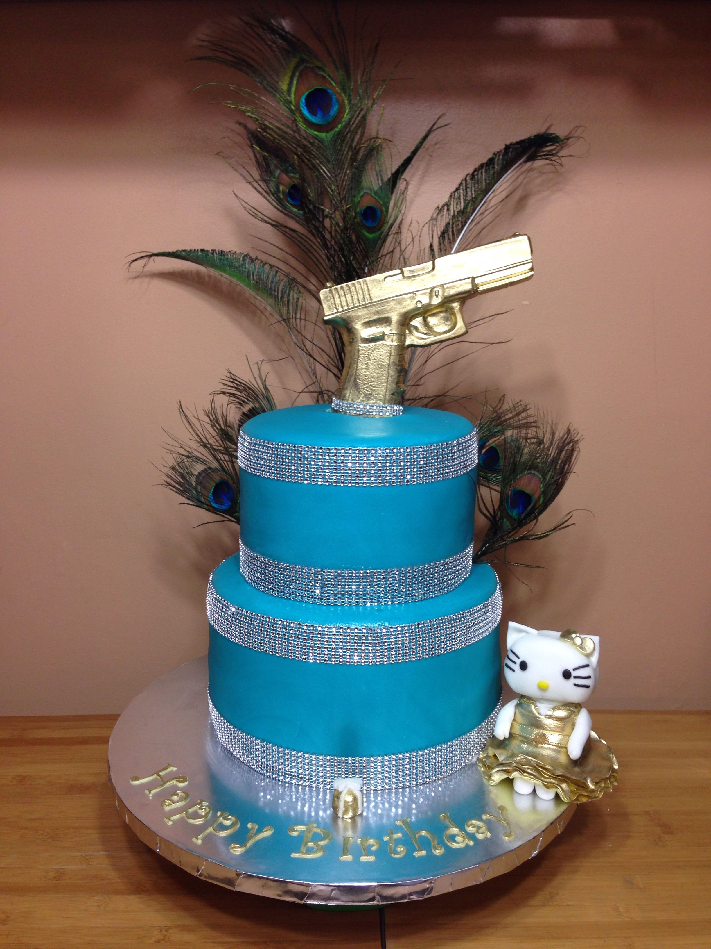 Glitter Gun And Everything Fun Themed Cake For Ramona Rizzo From