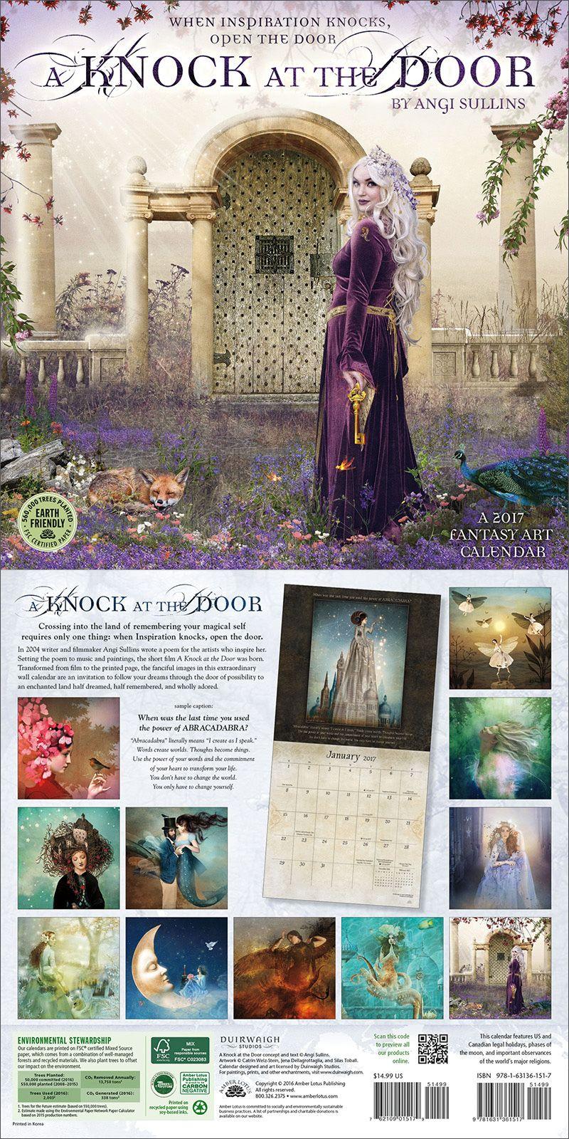 Art Calendar Book : A knock at the door fantasy art wall calendar by angi