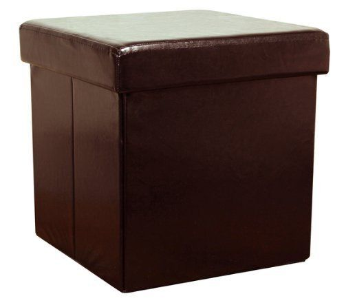 Charmant Brown Faux Leather Storage Box By The More Shop
