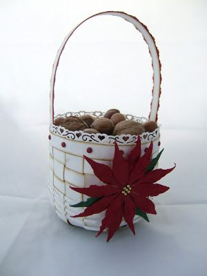 December 20 - Braided basket with poinsettia