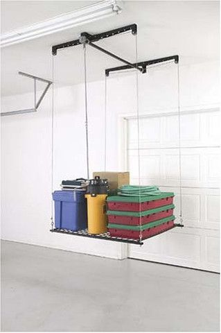 Pulley System Storage Rack For Garage. We Really Need To Invest In  Something Like This.