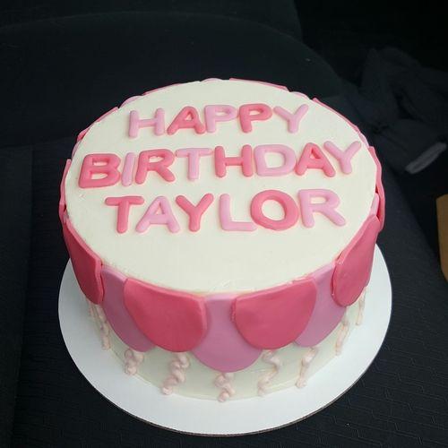 Pink Balloon Birthday Cake By wwwfreshbakedvacom Birthday Cake