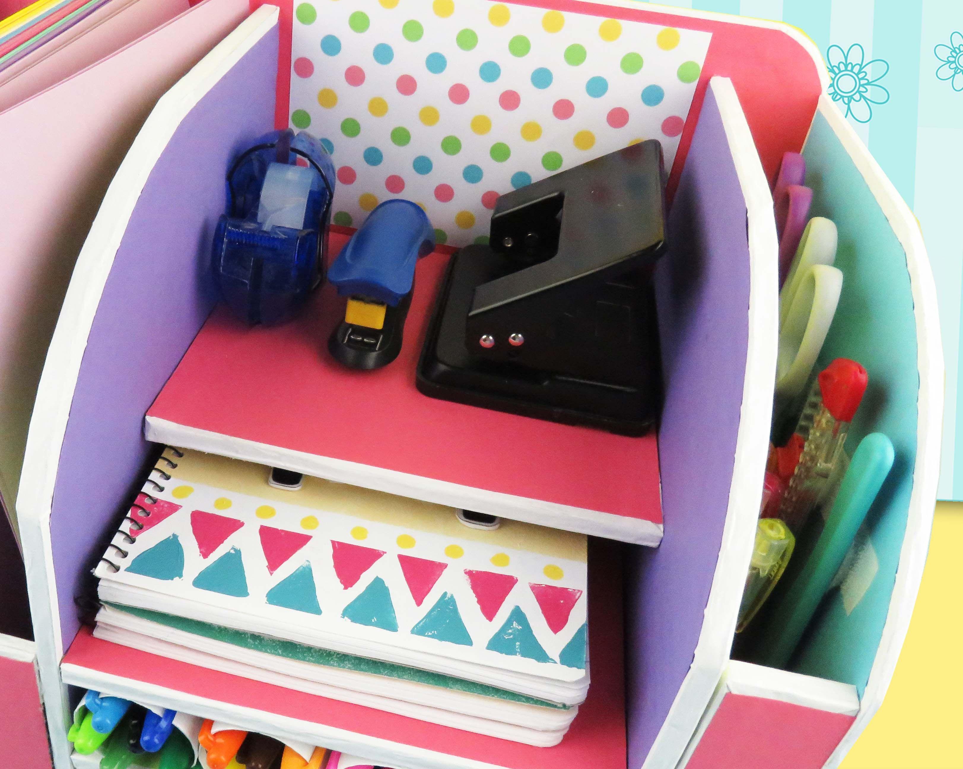 Organizador de escritorio de cart n organizador de escritorio de cart n pinterest craft - Organizadores escritorio ...