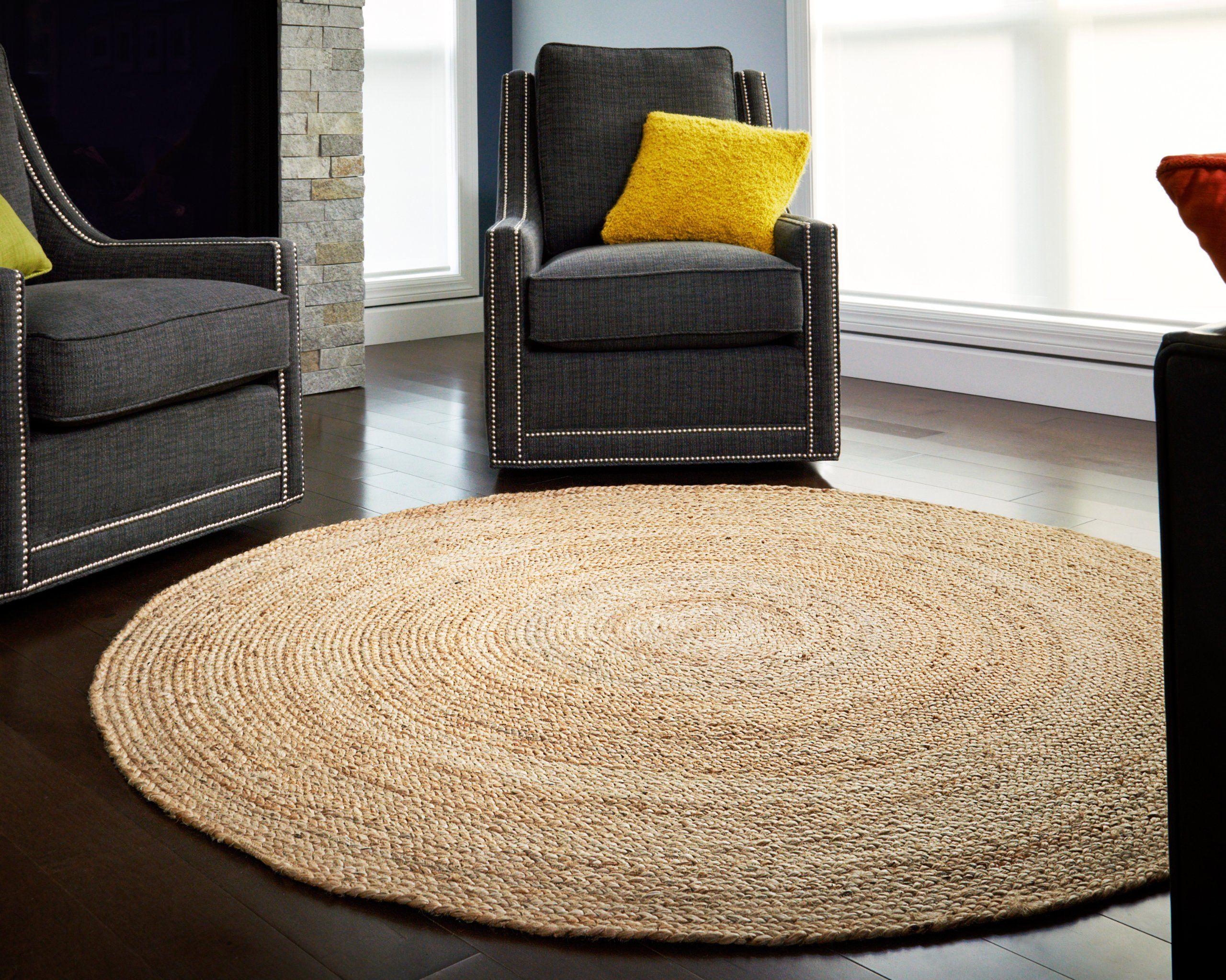 anji mountain jute round kerala natural jute rug 6 feet round