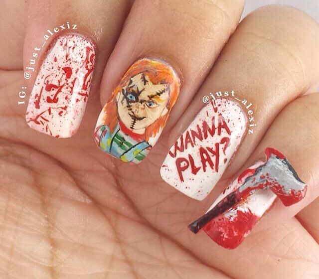 Gahhh i love this pinteres halloween nail designs prinsesfo Choice Image