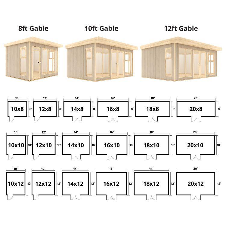 Evolution Insulated Composite Garden Office Wooden Billyoh Store Garden Office Flat Roof Shed Summer House Garden