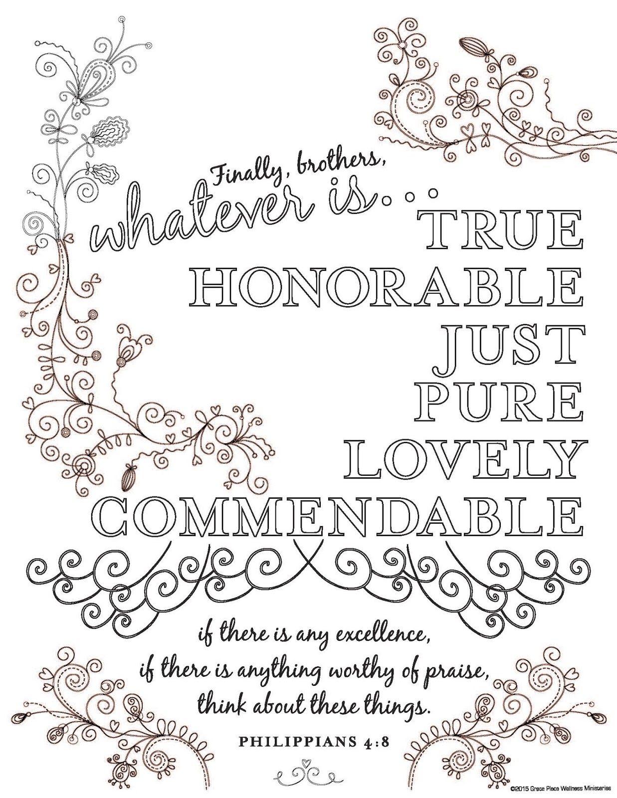 I Love My Shepherd: Philippians 4:8 | Sign Ideas | Pinterest