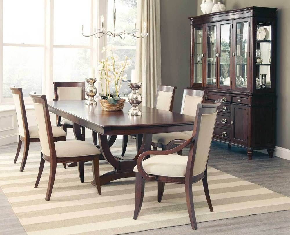 Fabulous Cognac Finish Formal Dining Table & 6 Chairs Dining Room Amazing Formal Dining Room Set Review