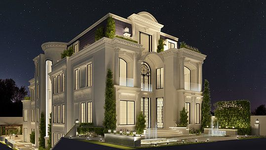Luxury villa architecture design doha qatar home for Modern house uae