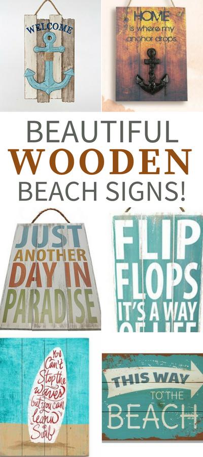 Wooden Beach Signs Decor Inspiration Best Wooden Beach Signs  Beachfront Decor  Wood Walls Wall 2018